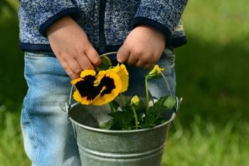 crafts for kids in garden outdoors